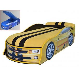Кровать машина с матрасом Chevrolet Camaro с механизмом MebelKon