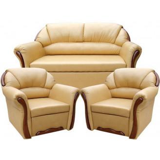 Комплект Бостон 211 с нераскладными креслами Вика