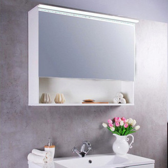Зеркальный шкафчик MC-Okinava 100 белый Fancy Marble