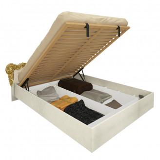 Кровать Дженнифер с мягким изголовьем с механизмом MiroMark радика беж