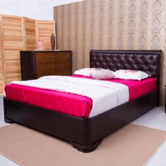 Кровать полуторная Милена мягкая спинка ромбы с механизмом Олимп