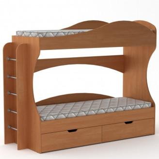 Двухъярусная кровать Бриз 70*190 с ящиками Компанит