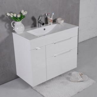 Шкафчик навесной с раковиной Bermuda 2 Белый Fancy Marble