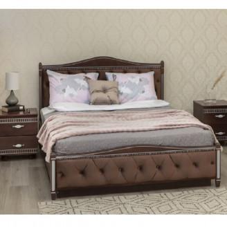 Кровать Прованс кожзам ромбы  +  патина с механизмом Олимп