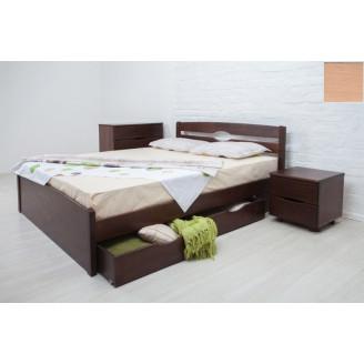 Кровать Лика Люкс с ящ. 160х200 бук  +  ус. Лам У-1