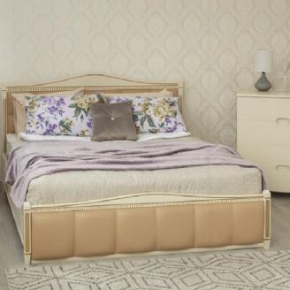 Кровать Прованс кожзам квадраты  +  патина с механизмом Олимп