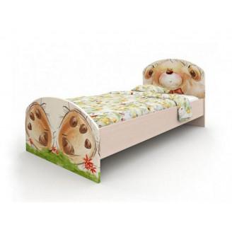 Кровать Мишка с букетом без ящиков 90*190 Вальтер