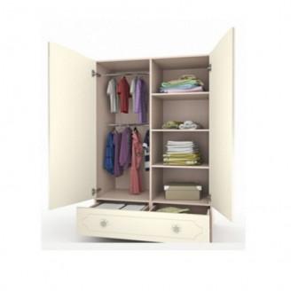 Шкаф платяной Бабочки с ящиком-100 Вальтер