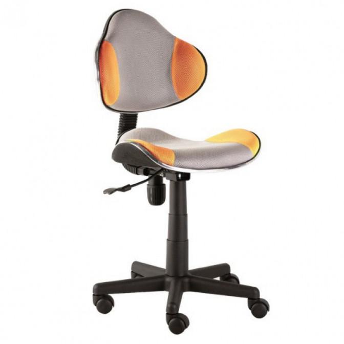 Офисное кресло Q-G2 оранжевый + серый Signal