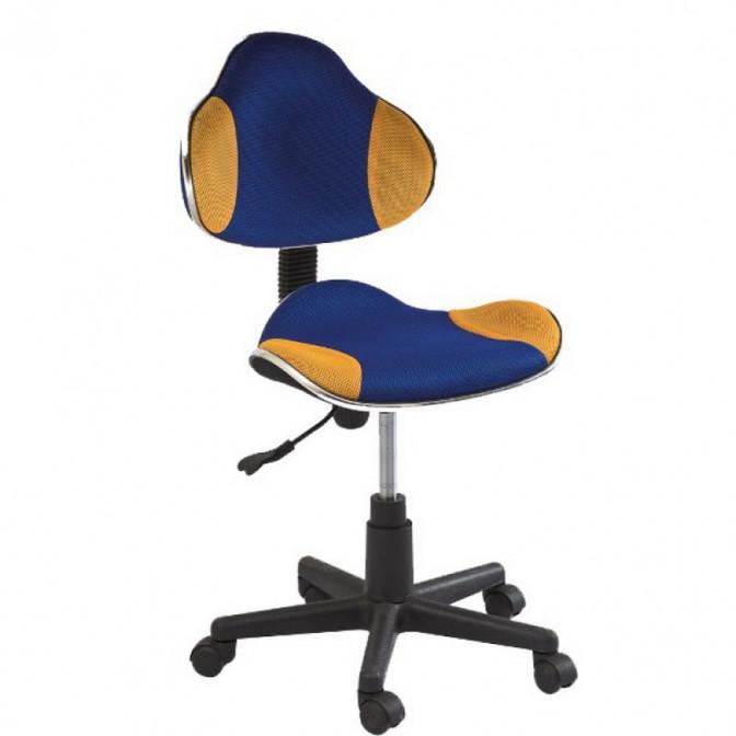 Офисное кресло Q-G2 синий + желтый Signal