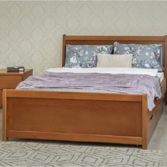 Кровать Сити с ящиками с интарсией Олимп