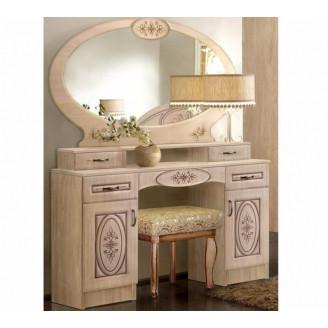 Туалетный стол  +  зеркало  +  пуф Василиса Мастер форм