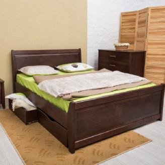 Кровать Сити с ящиками с филенкой Олимп